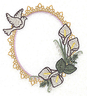 Embroidery Design: Happily Ever After Wedding design small 3.40w X 3.89h