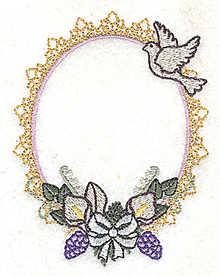 Embroidery Design: With this ring Wedding design small 2.96w X 3.88h