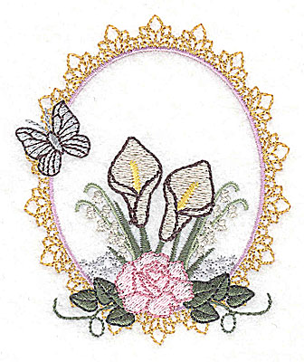 Embroidery Design: Memories Wedding design small 3.21w X 3.86h