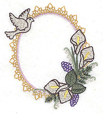 Embroidery Design: To Have and To Hold Wedding design small 3.40w X 3.89h
