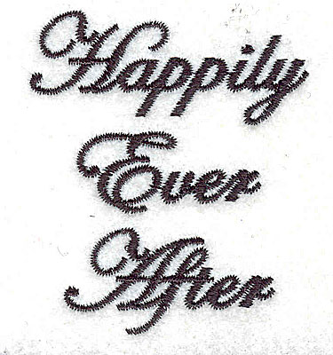 Embroidery Design: Happily Ever After text 2.14w X 2.50h