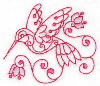 Embroidery Design: Hummingbird B small 3.88w X 3.36h
