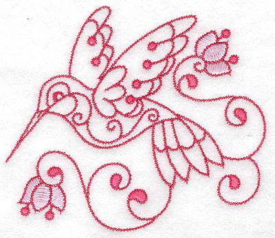 Embroidery Design: Hummingbird B large 4.97w X 4.30h