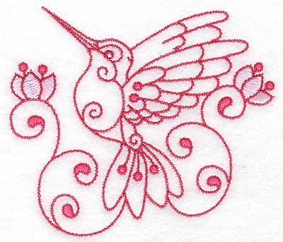 Embroidery Design: Hummingbird C large 4.95w X 4.35h