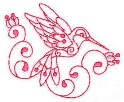 Embroidery Design: Hummingbird D large  4.98w X 4.01h
