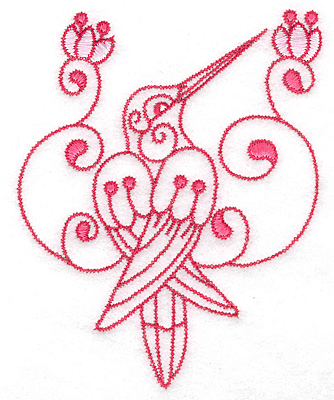 Embroidery Design: Hummingbird E large 4.02w X 4.97h