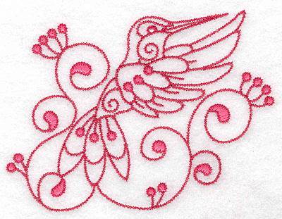 Embroidery Design: Hummingbird G large 4.97w X 3.87h