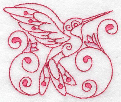 Embroidery Design: Hummingbird H large 4.97w X 4.11h