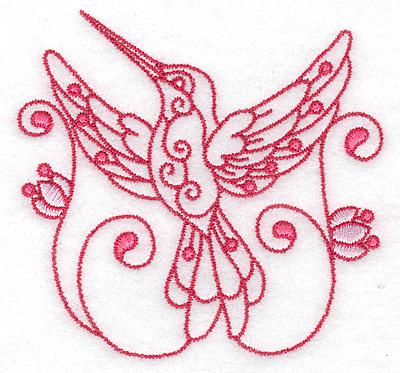 Embroidery Design: Hummingbird J small 3.87w X 3.70h
