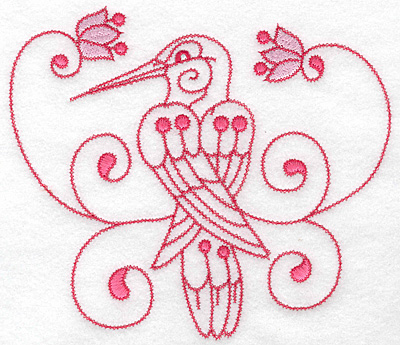 Embroidery Design: Hummingbird A extra large 7.02w X 6.15h