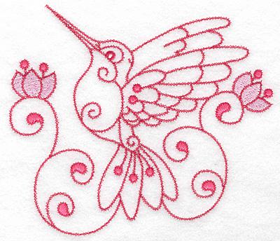 Embroidery Design: Hummingbird C extra large 6.98w X 6.13h