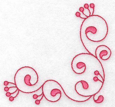 Embroidery Design: Corner swirl 3.88w X 3.88h