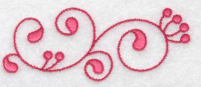 Embroidery Design: Horizontal swirls 3.67w X 1.45h