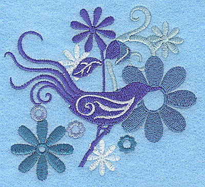 Embroidery Design: Wings of Fantasy A small 3.87w X 3.69h