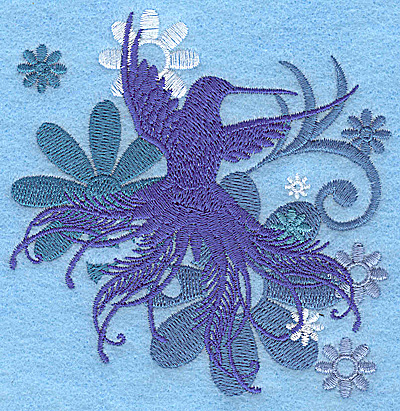Embroidery Design: Wings of Fantasy B small 3.80w X 3.87h