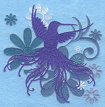 Embroidery Design: Wings of Fantasy B large 4.86w X 4.95h