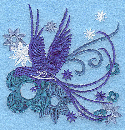 Embroidery Design: Wings of Fantasy C small 3.61w X 3.87h