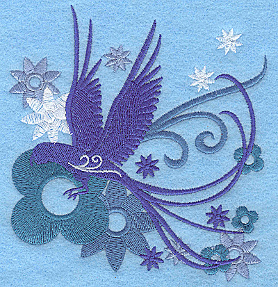 Embroidery Design: Wings of Fantasy C large 4.62w X 4.96h