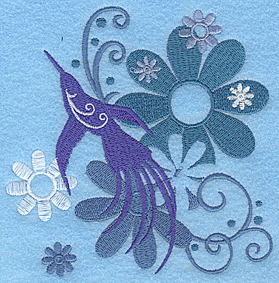 Embroidery Design: Wings of Fantasy D large 4.88w X 4.92h