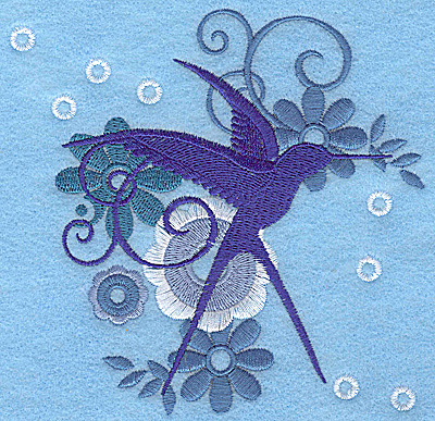 Embroidery Design: Wings of Fantasy E large 4.83w X 4.96h
