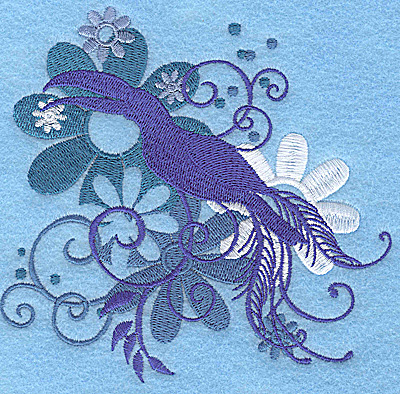 Embroidery Design: Wings of Fantasy H large 4.94w X 4.77h