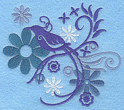 Embroidery Design: Wings of Fantasy J large 4.94w X 4.37h