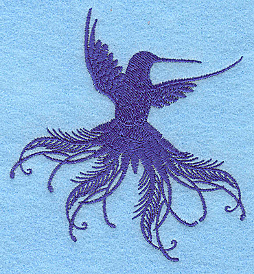 Embroidery Design: Bird B 3.61w X 3.89h