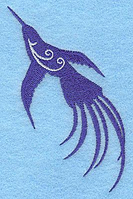 Embroidery Design: Bird D 2.46w X 3.88h