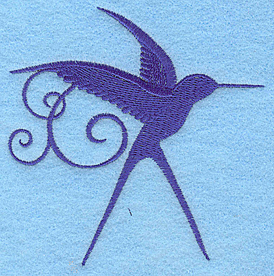 Embroidery Design: Bird E 3.82w X 3.87h