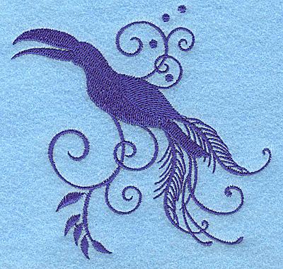 Embroidery Design: Bird H 3.87w X 3.81h