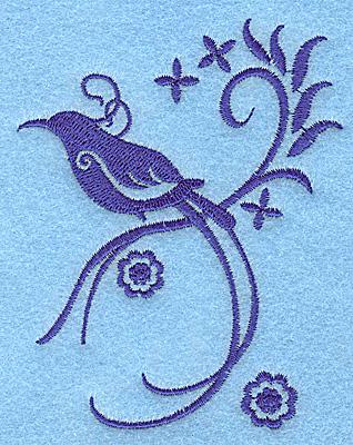 Embroidery Design: Bird J 3.09w X 3.89h
