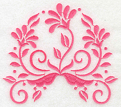 Embroidery Design: Floral design A large 4.93w X 4.31h