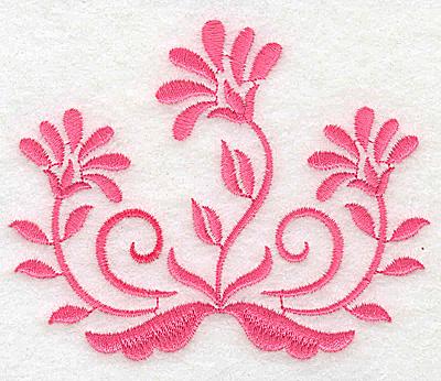 Embroidery Design: Floral design A partial 3.85w X 3.11h