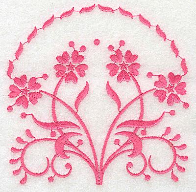 Embroidery Design: Floral design B small 3.89w X 3.86h