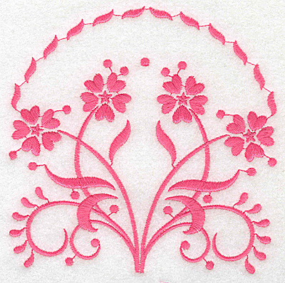 Embroidery Design: Floral design B large 4.97w X 4.94h