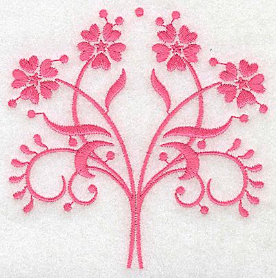 Embroidery Design: Floral design B partial 3.88w X 3.86h