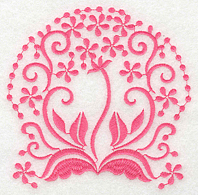 Embroidery Design: Floral design C large 4.95w X 4.91h