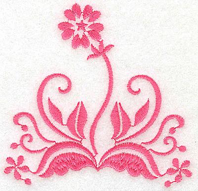 Embroidery Design: Floral design C partial 3.88w X 3.78h