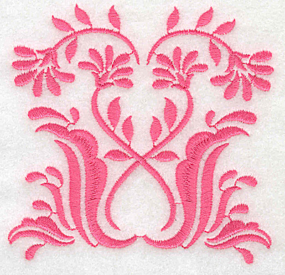 Embroidery Design: Floral design D small 3.86w X 3.74h