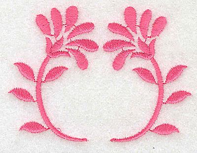 Embroidery Design: Floral design D partial 3.01w X 2.23h