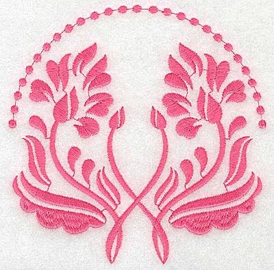 Embroidery Design: Floral design E large 4.93w X 4.97h