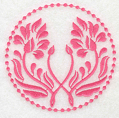 Embroidery Design: Floral design E partial 3.85w X 3.80h