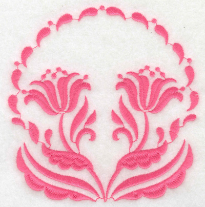 Embroidery Design: Floral design F large 4.76w X 4.91h