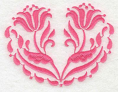 Embroidery Design: Floral design F partial 3.89w X 2.94h
