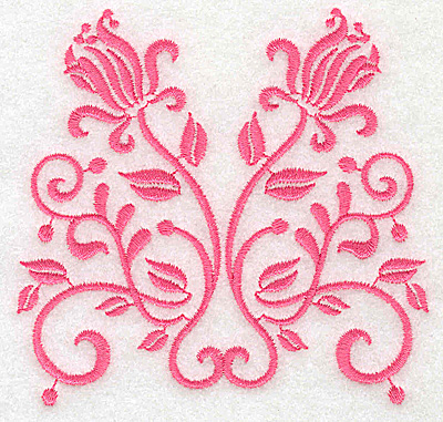 Embroidery Design: Floral design G small 3.83w X 3.71h