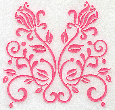 Embroidery Design: Floral design G large 4.90w X 4.74h