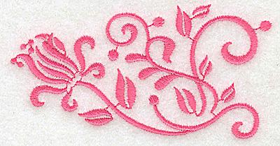 Embroidery Design: Floral design G partial 3.89w X 2.02h