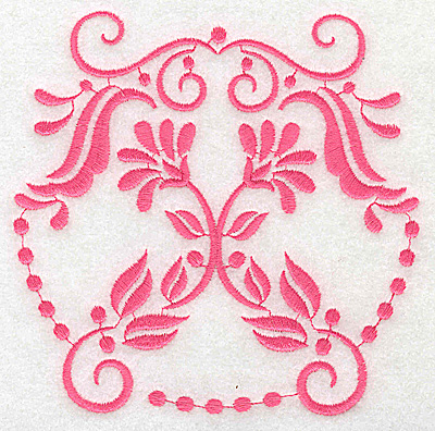 Embroidery Design: Floral design H large 4.94w X 4.91h