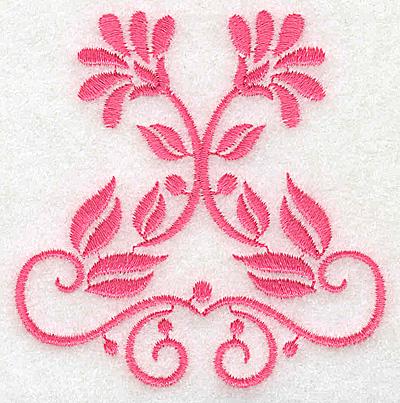 Embroidery Design: Floral design H partial 3.01w X 3.07h