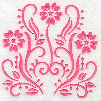 Embroidery Design: Floral design I large 4.93w X 4.93h
